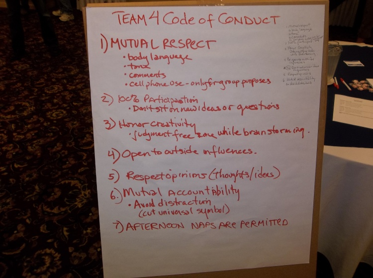 Our team (called 4 good) made this code of conduct.