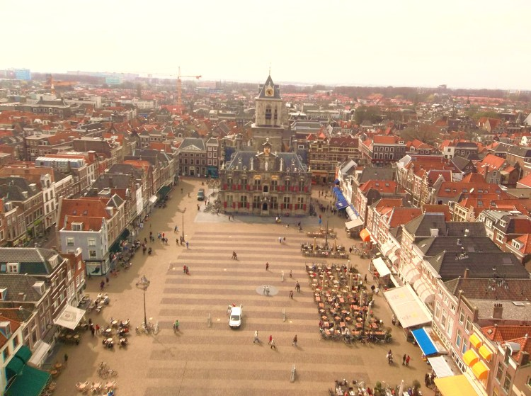 Delft from the rooftop of the Nieuwe Kerk