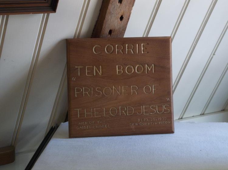 Corrie Ten Boom was taken prisoner by the Nazi's for hiding Jews in her home.