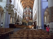 The sanctuary of St. Bavo's in Haarlem