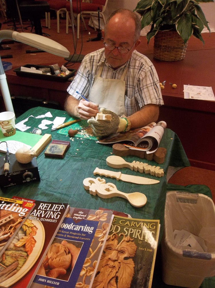 Doug Stevens led a wood carving demonstration for us on Saturday