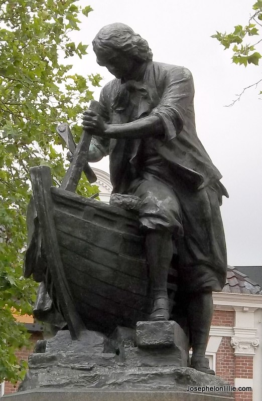 Statue of Peter the Great in Zaandam, North Holland
