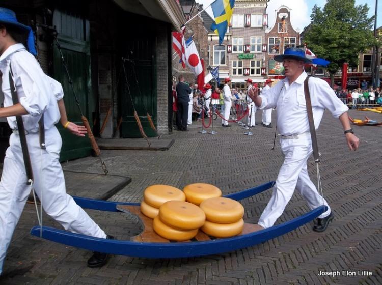 Cheese wheels in Alkmaar