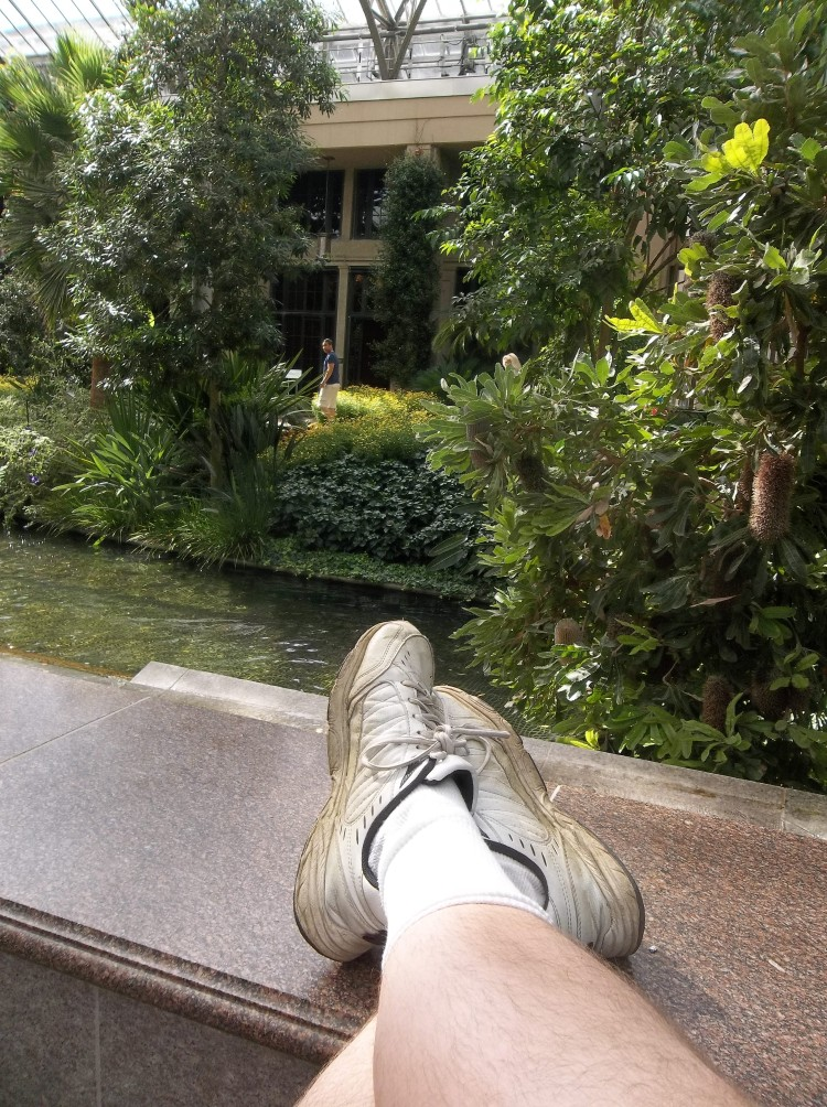 My feet at Longwood Gardens