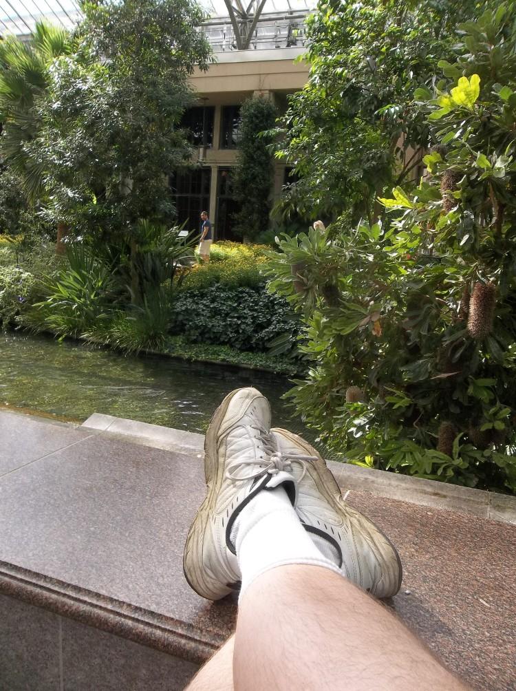 My feet at Longwood Gardens