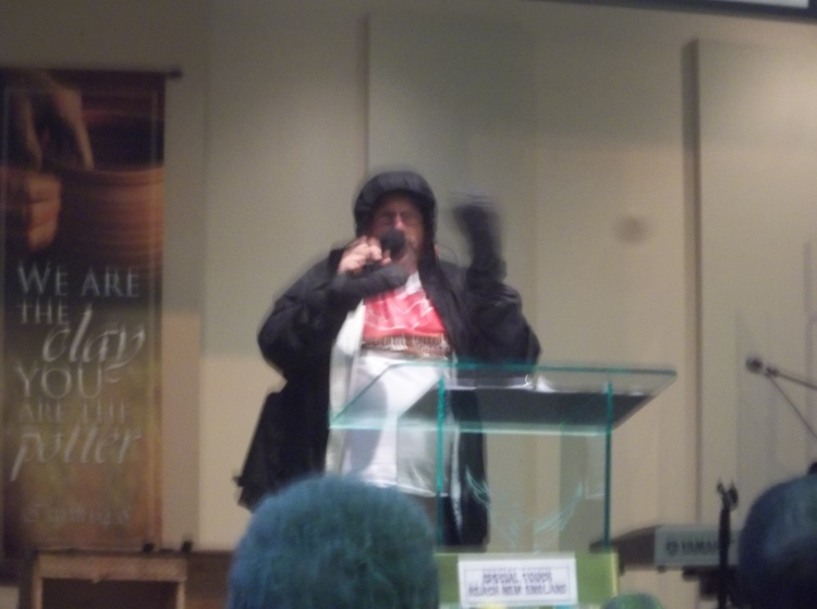 Me preaching for Special Touch Ministries