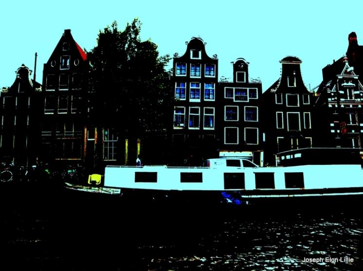 Leaning buildings, Amsterdam