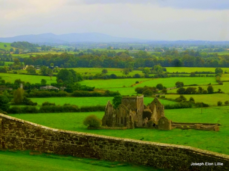 Ancient Monastery seen from the Rock Of Cashel near Tipperary