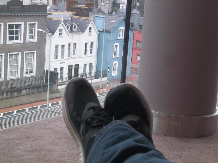My feet over Cork.