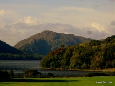 The mountains seen from the front lawn of Muckross House