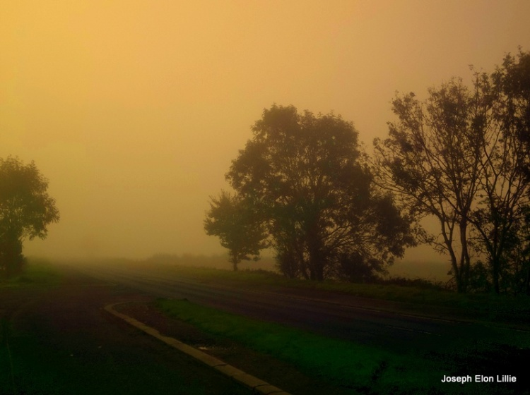 Morning Mists On an Irish country road