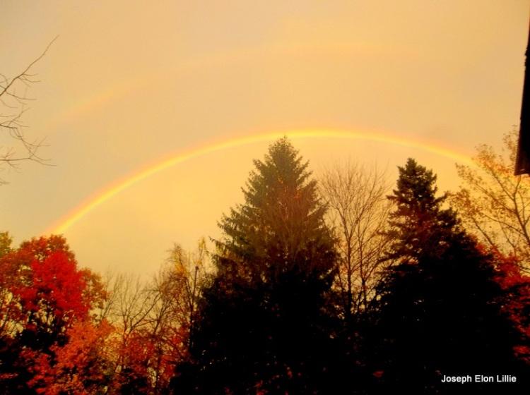 Autumn Rainbow In New England