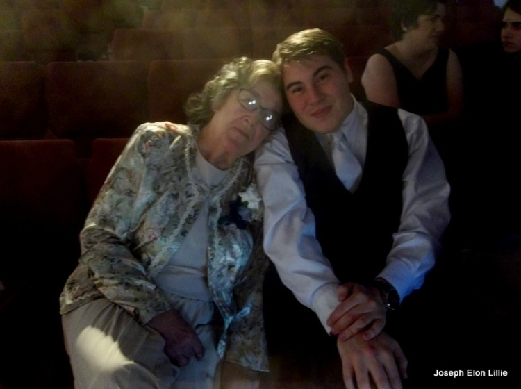 Joe and Gramma Lillie after the wedding.