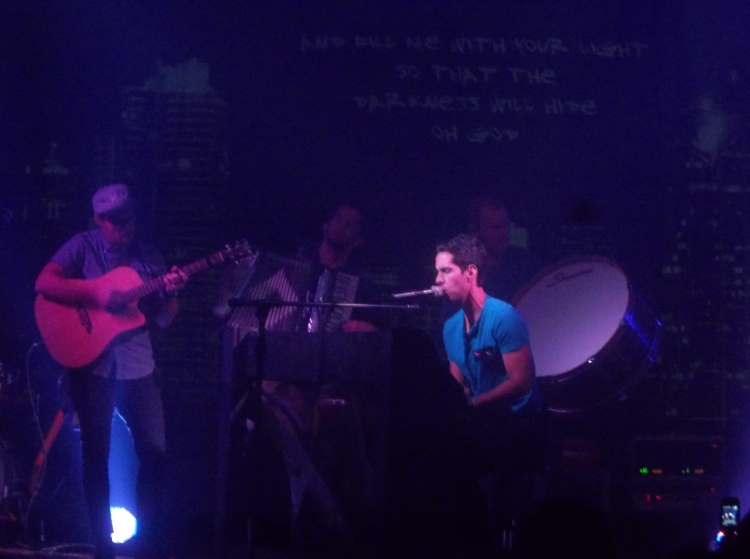 The band Cloverton played to a nearly sold out house in our church last week.