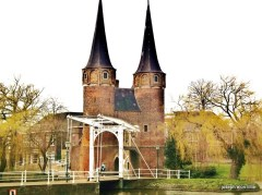 The footbridge in Delft