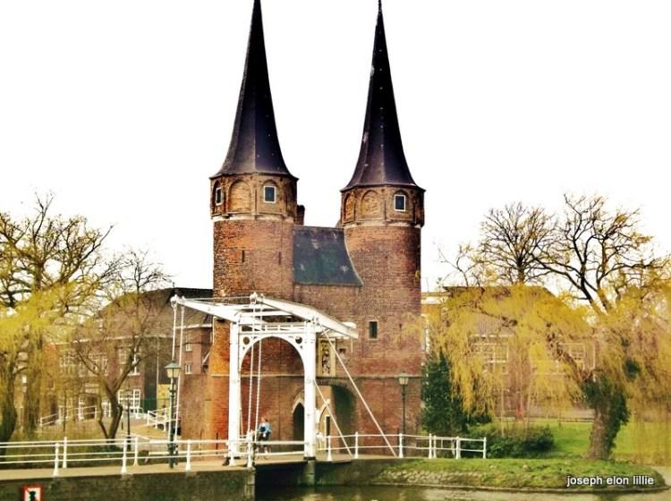 The footbridge in Delft