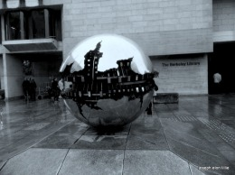 Sculpture at the library of Trinity College