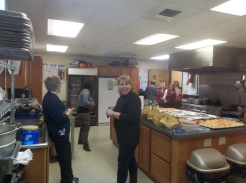 Donna Marshall and the women's ministry of Bread of Life made a fabulous meal!