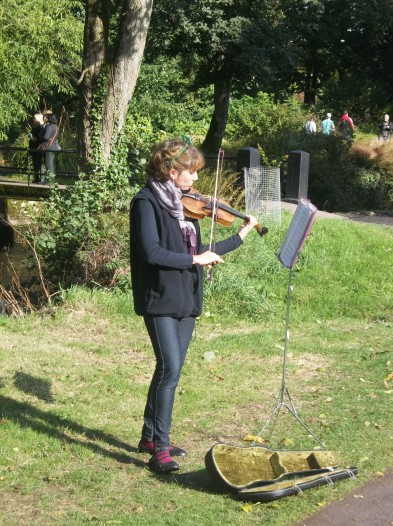 And the graceful aires of the violin playing over the fields at Blarney Castle.
