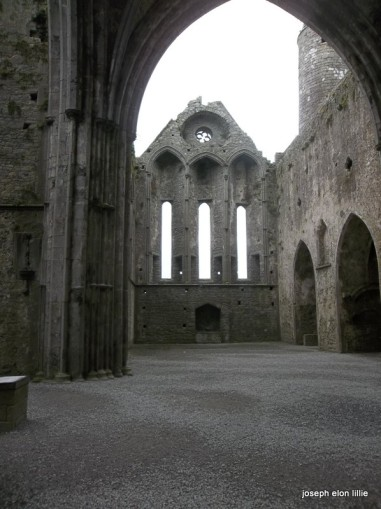 Narrow windows at the Rock Of Cashel