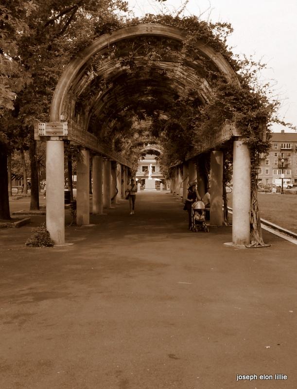 Through the arches. Back Bay Boston