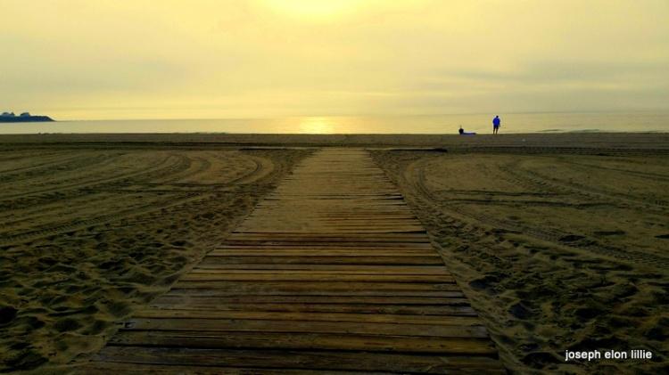Off the boardwalk to Hampton Beach NH