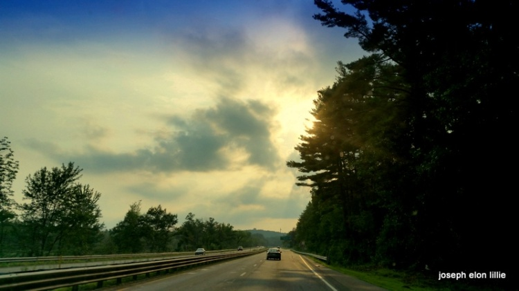 Into the sunset on Rte 2 West