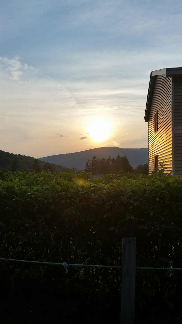 Sunset from Jiminy Peak, Lanesboro MA