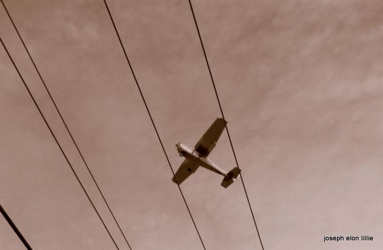 An airplane overhead