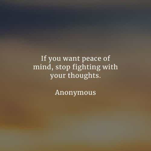 50 Peace of mind quotes that'll help you acquire inner peace